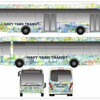 New look unveiled for Navy Yard Transit buses