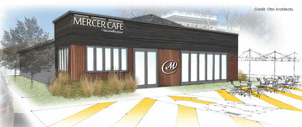 Rendering for Mercer Cafe at The Navy Yard (Building 623)
