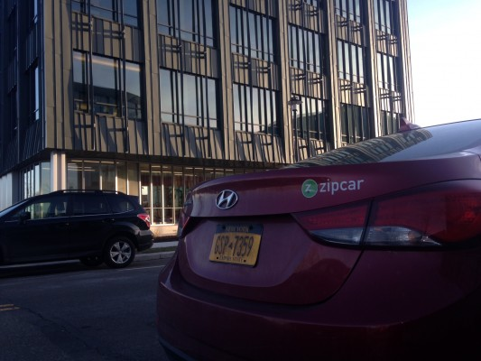 Zipcar is now located outside 201 Rouse Boulevard at The Navy Yard